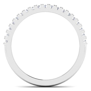 Circle View of Designer Half Eternity Platinum Wedding Band with Diamonds JL PT 6850
