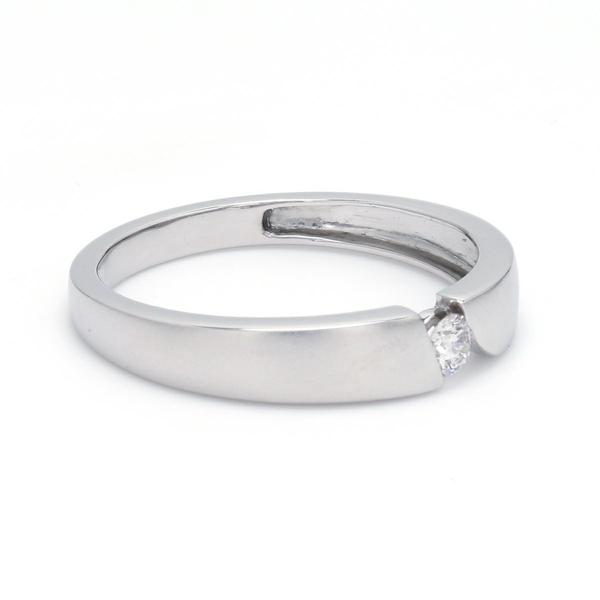 Side View of Elegant Single Diamond Ring for Men JL PT 578
