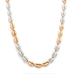 Designer Platinum & Rose Gold Fusion Chain for Men JL PT CH 956