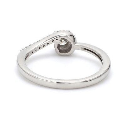 Back View of 20 Pointer Designer Curvy Solitaire Platinum Ring for Women JL PT 576