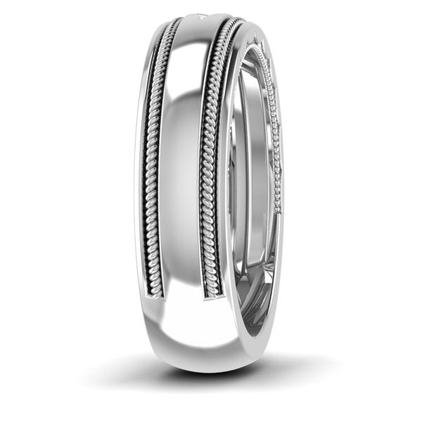 Half Eternity Platinum Wedding Band with Diamonds Ring JL PT 6760