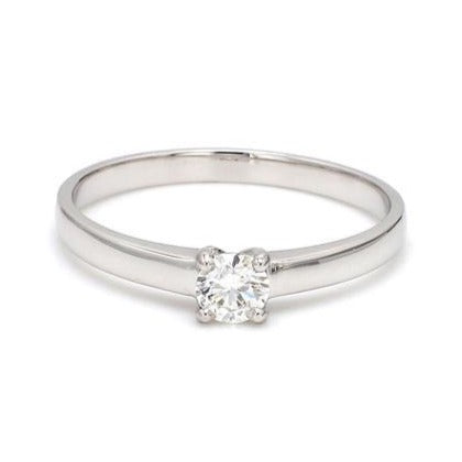 Pointer Classic 4 Prong Solitaire Ring made in Platinum SKU 0012