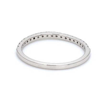 Back View of Curvy Half Eternity Platinum Ring with Diamonds JL PT 585