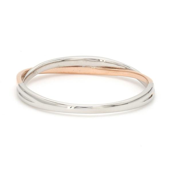 Thin Platinum & Rose Gold Fusion Ring for Women JL PT 335 SIDE View