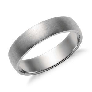 5mm Classic Platinum Band for Men in Matte Finish SJ PTO 252 in India