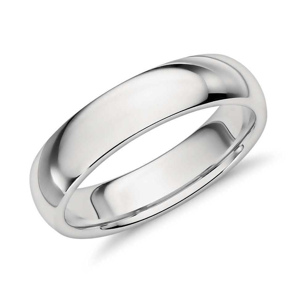 5mm Comfort Fit Platinum Wedding Band SJ PTO 257 in India
