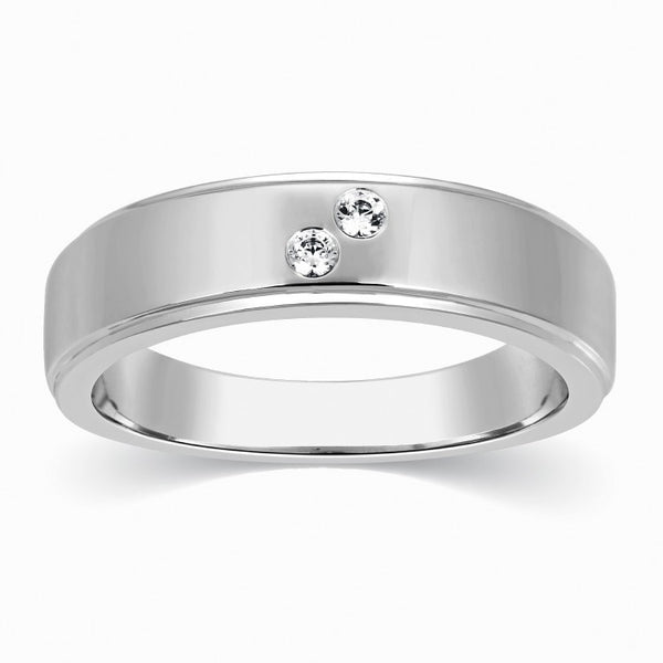 2 Diamond Platinum Wedding Band for Men SJ PTO 261 in India