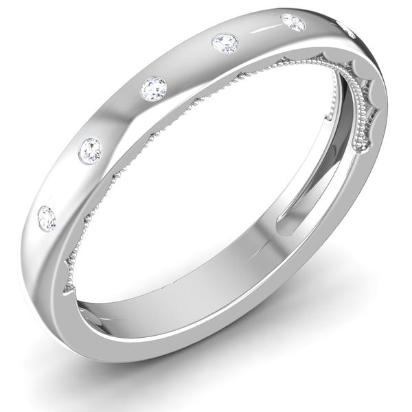 7 Diamond Platinum Wedding Ring JL PT 6775