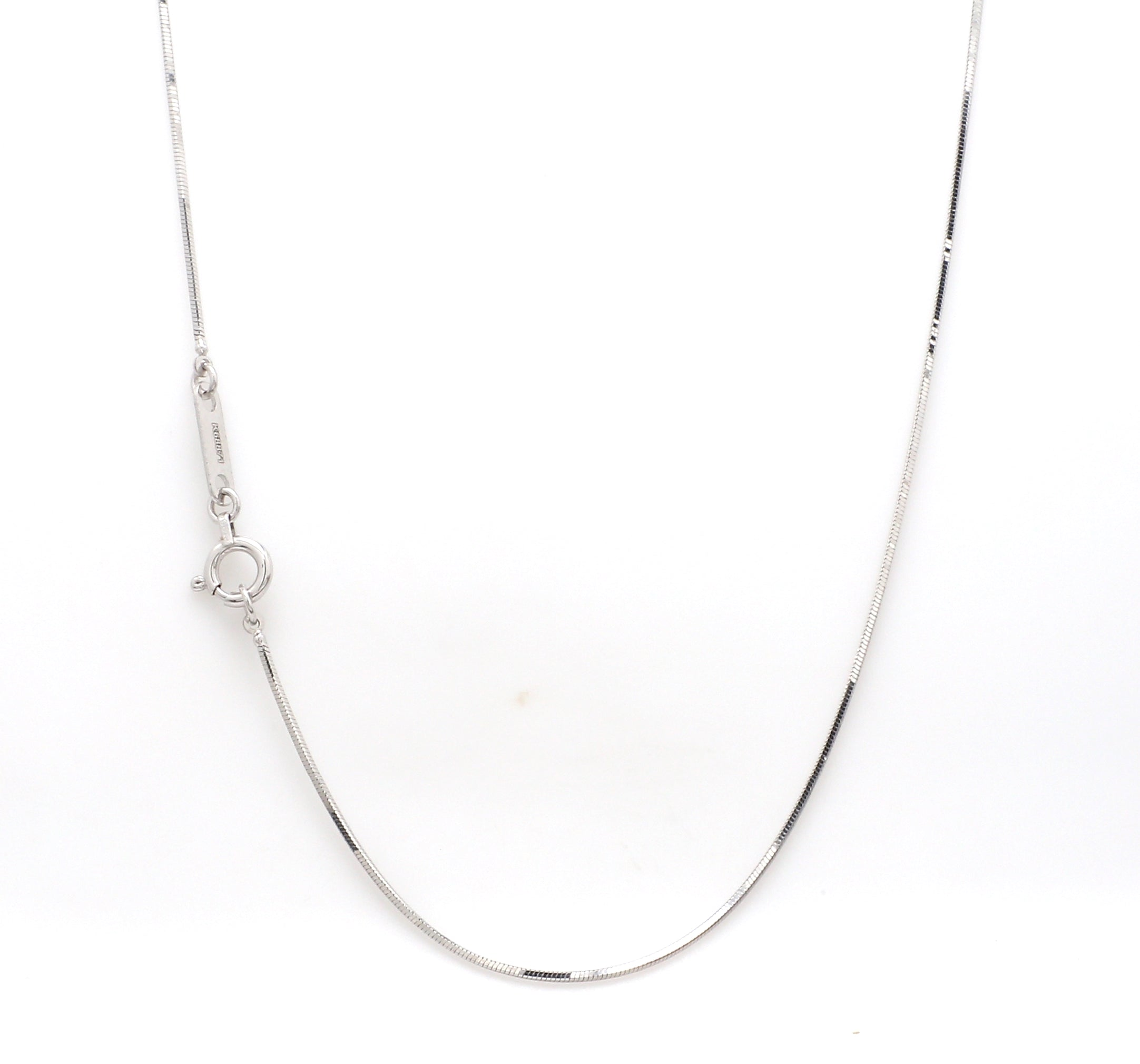 Thin Dazzling Shiny Platinum Chain JL PT 747 - Thin