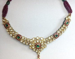 Light weight Uncut Diamond Polki Necklace by Jewelove