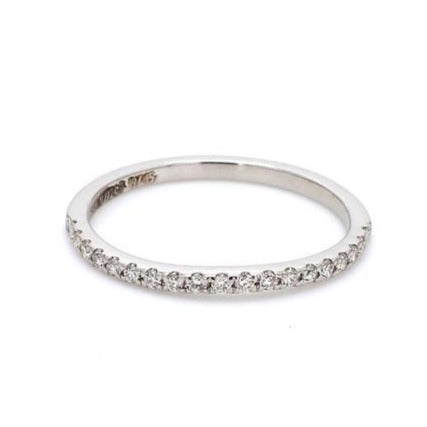 Curvy Half Eternity Platinum Ring with Diamonds JL PT 585