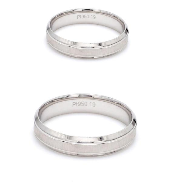 Japanese Platinum Love Bands with Matte Finish Couple Ring JL PT 605