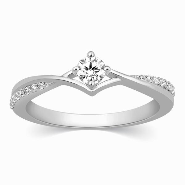 Platinum Diamond Engagement Ring with 15 Pointer JL PT 573