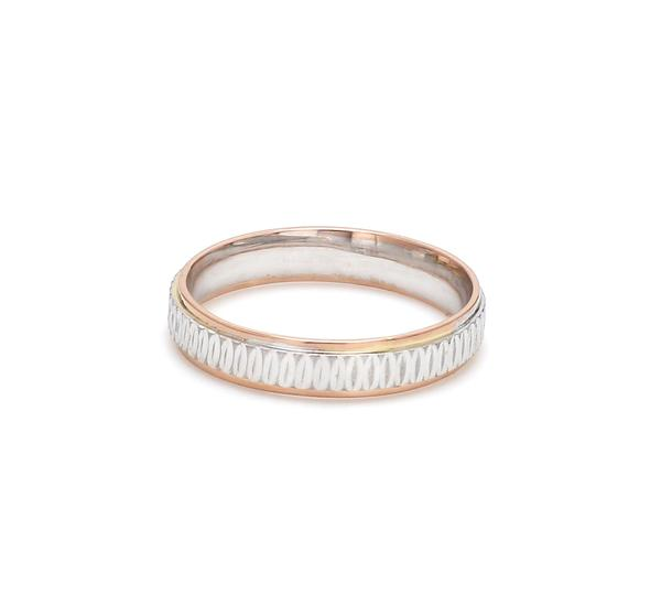 Japanese Platinum & Rose Gold Couple Rings JL PT 601