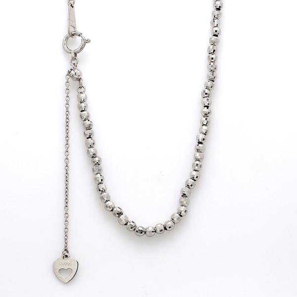 Japanese Platinum Chain with 2.5mm Diamond Cut Balls JL PT 742