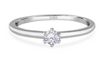 Load image into Gallery viewer, Front View of 14 Pointer Classic 6 Prong Platinum Ring SKU 0012-A