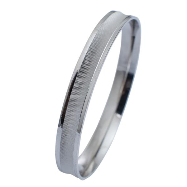 UniSex Platinum Kada with a Unique Concave Texture JL PTB 628