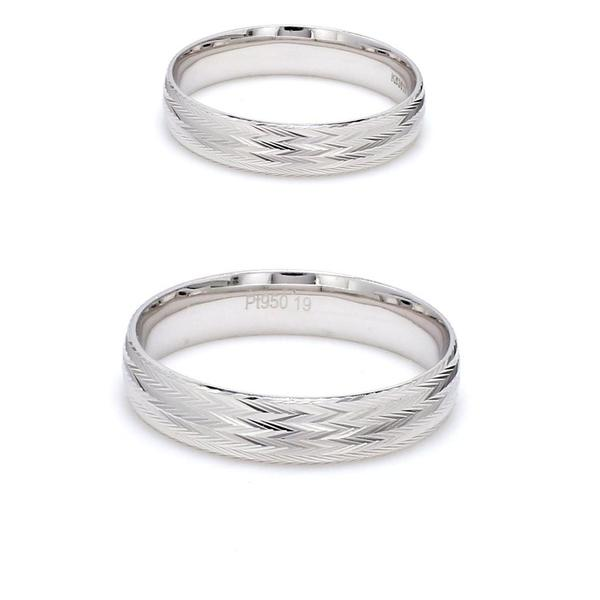 Japanese Platinum Couple Rings with Unique Shiny Texture JL PT 611