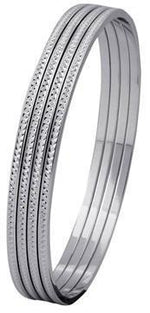 Load image into Gallery viewer, Thin Platinum Bangles with Diamond Cut SJ PTB 314