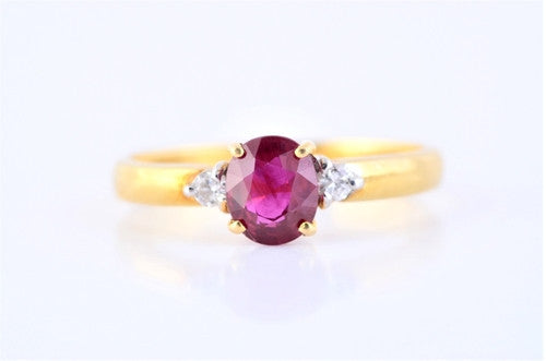 Burmese Ruby & Diamond Ring JL R 58 - Suranas Jewelove