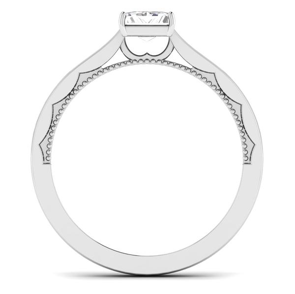 Circle View of 30 Pointer Princes Cut Platinum Diamond Solitaire Engagement Ring JL PT 6578