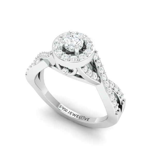 Pointer Classic 4 Prong Solitaire Ring made in Platinum JL PT 677