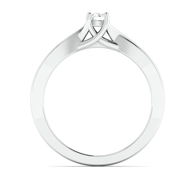 Pointer Classic 4 Prong Solitaire Ring made in Platinum JL PT 676