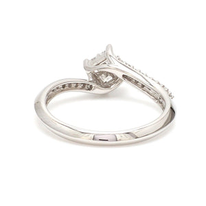Princess Cut Solitaire-look Platinum Engagement Ring for Women JL PT 1010