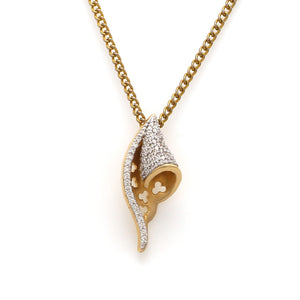 Designer Gold Diamond Pendant for Women JL AU P3