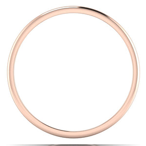 Circle View of Classic Plain Platinum Couple Rings With a Rose Gold Border JL PT 633