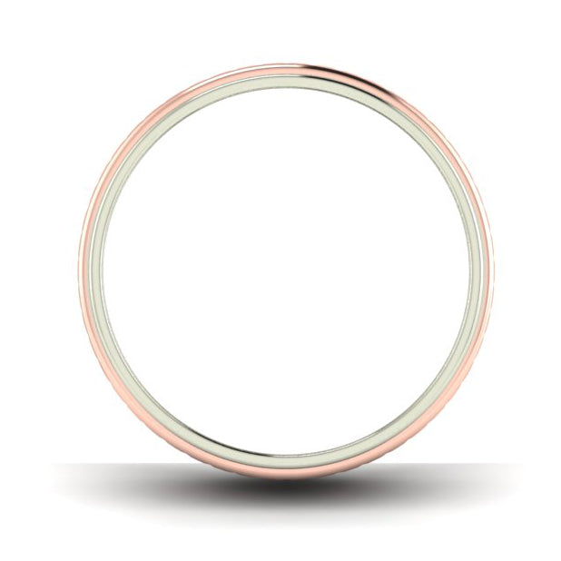 Circle View of Designer Platinum & Rose Gold Couple Rings JL PT 638