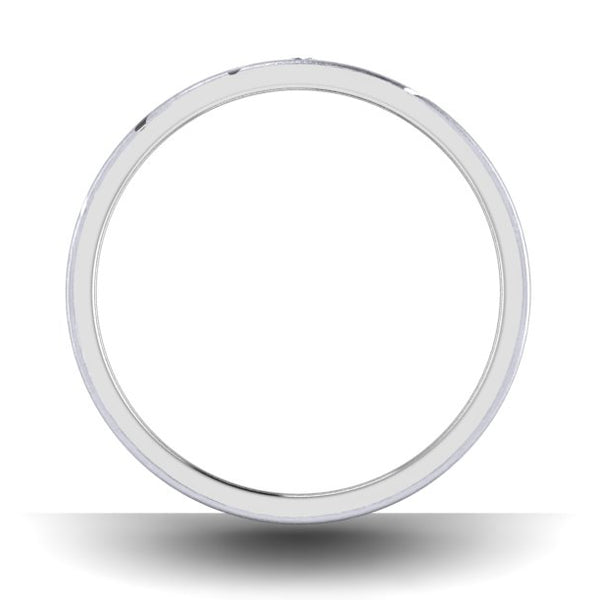 Circle View of Designer Platinum with Diamond Love Bands with Slanting Lines JL PT 646