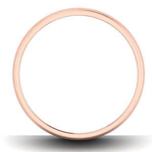 Circle View of Simple Platinum & Rose Gold Couple Rings JL PT 634