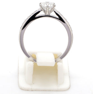 Circle View of Customised Platinum Diamond Solitaire Ring JL PT 917