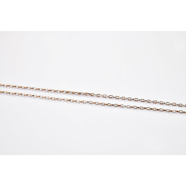 Classic Platinum Rose Gold Chain with Alternate Links JL PT 771