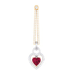 Load image into Gallery viewer, Platinum Chandeliers with Rose Gold, Diamonds & Red Heart JL PT E 8087