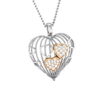 Load image into Gallery viewer, Designer Heart of Hearts Rose Gold Platinum Pendant with Diamonds JL PT P 8000