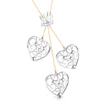 Load image into Gallery viewer, Designer Crown & Heart Platinum & Rose Gold Pendant with Diamonds JL PT P 8216