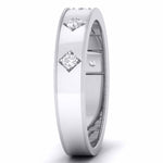 Load image into Gallery viewer, Platinum Band for Men with 5 Diamonds JL PT 5851