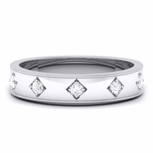 Platinum Band for Men with 5 Diamonds JL PT 5851