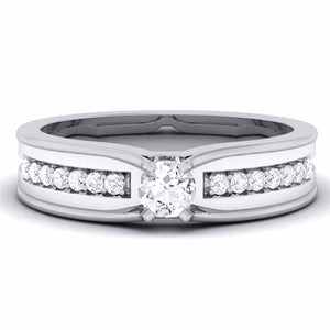 Designer Platinum Solitaire Ring for Men JL PT 5856