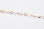 Load image into Gallery viewer, Platinum & Rose Gold Links Bracelet JL PTB 696