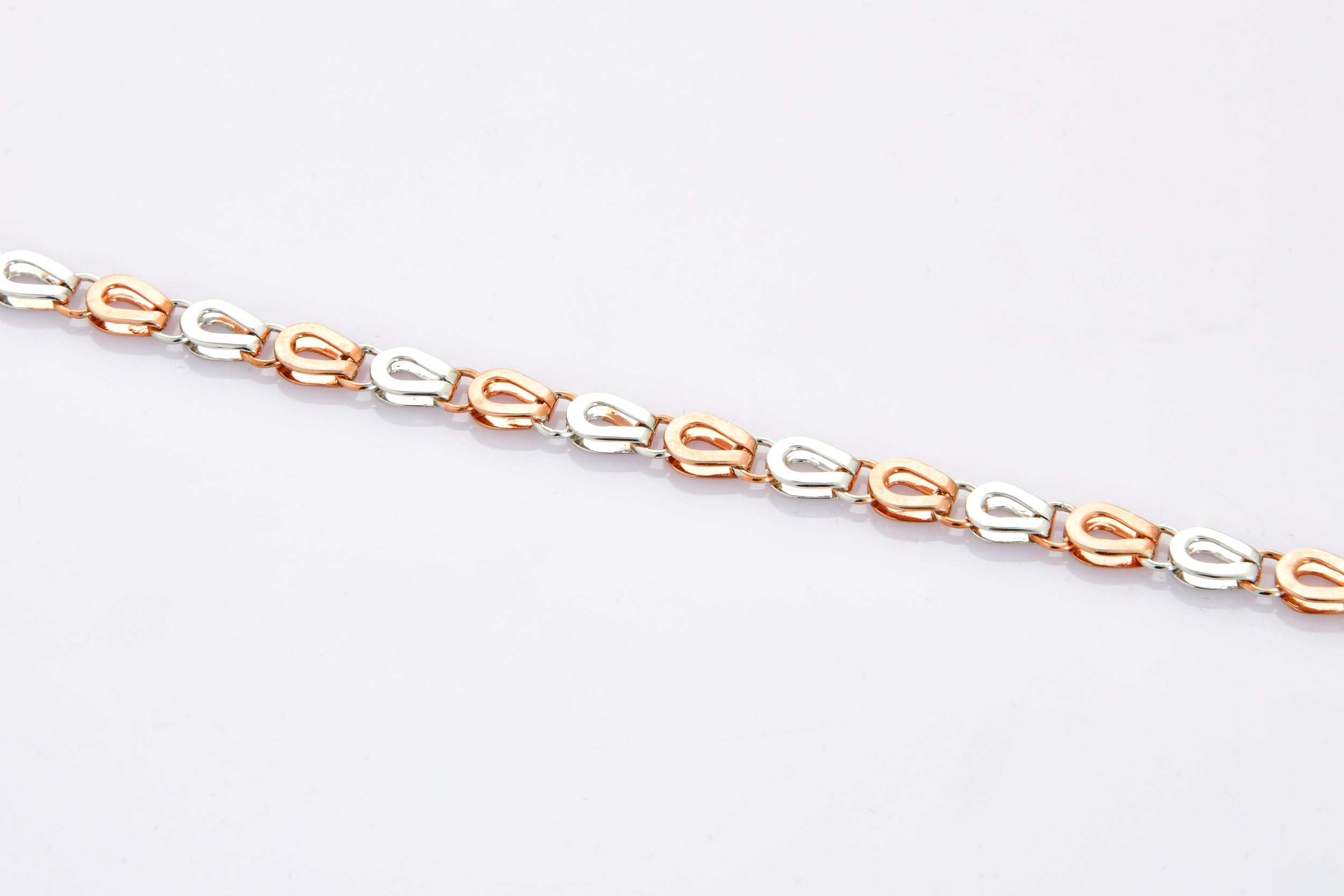 Platinum & Rose Gold Bracelet for Men JL PTB 701