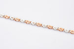 Load image into Gallery viewer, Platinum & Rose Gold Bracelet for Men JL PTB 701