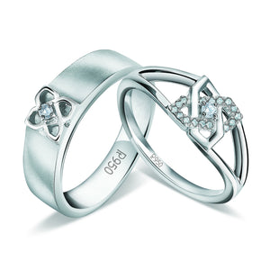 Designer Platinum Love Bands with Diamonds JL PT 928