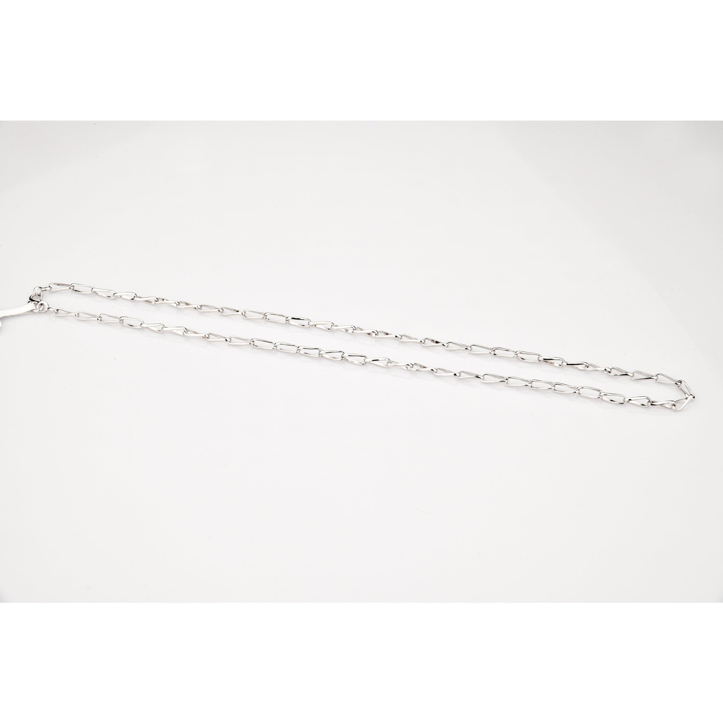 Designer Platinum Chain with Curved Link JL PT 781