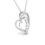Load image into Gallery viewer, 5 Diamond Platinum Heart Pendant with Diamonds JL PT P 8097