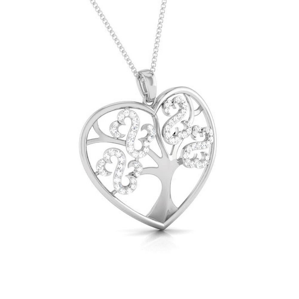 Tree of Life Platinum Pendant with Diamonds JL PT P 8099