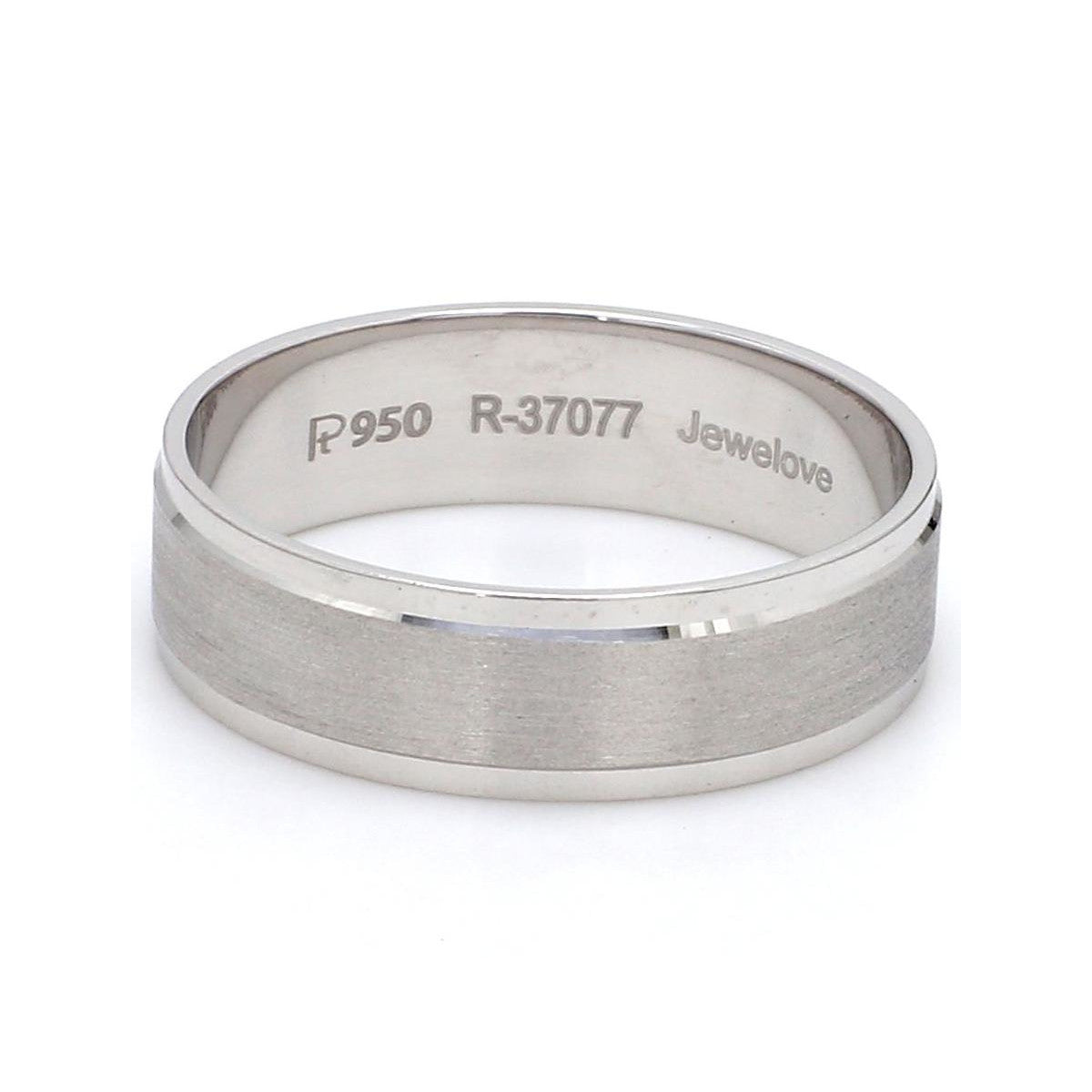Front View of Classic Platinum Love Bands without Diamonds SJ PTO 104