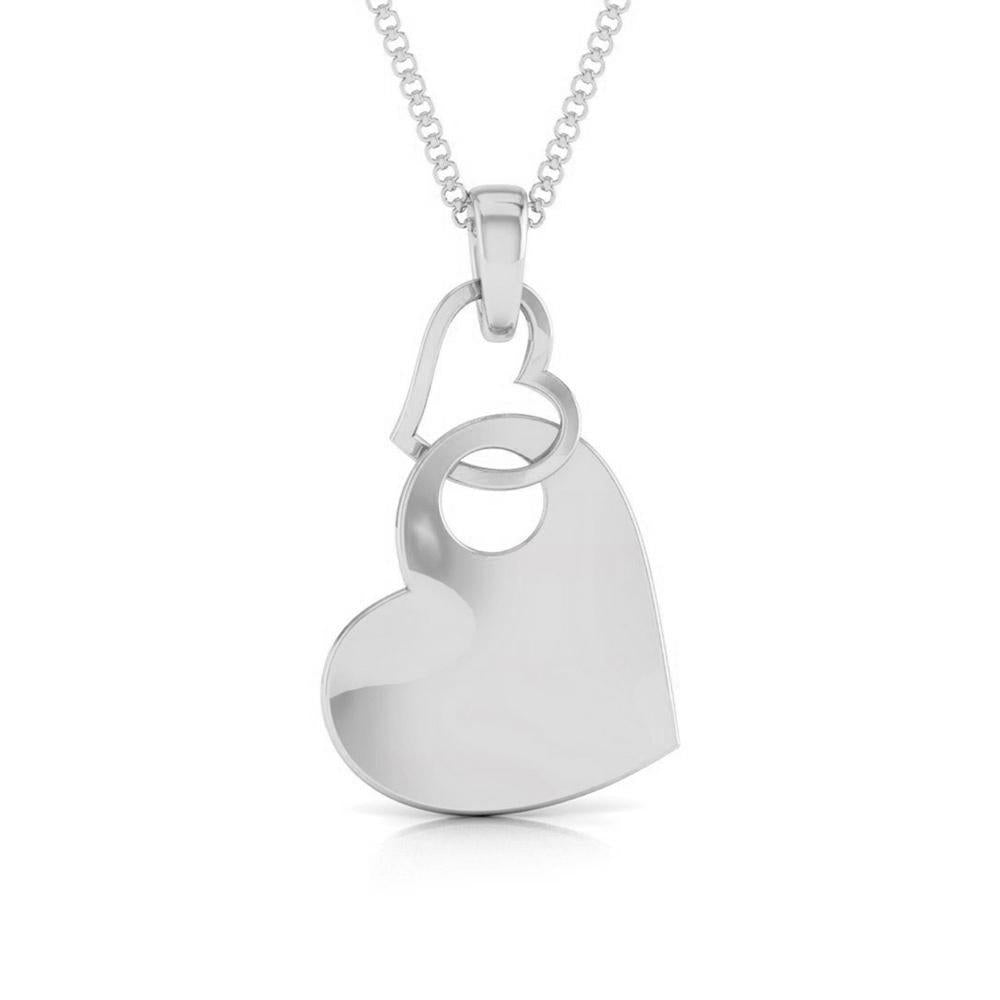 Interlinked Hearts Plain Platinum Pendant JL PT P 8108